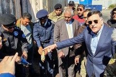 UN-recognized prime minister of Libya Fayez al-Sarraj visits Tripoli port following the port attack