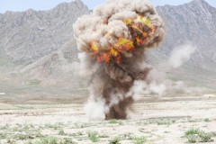 An explosion in Afghanistan