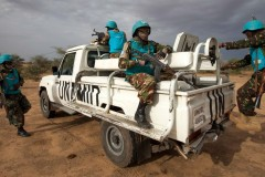 Tanzanian troops of the UNAMID contingent in Darfur, 2014