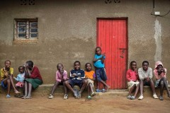 Children of genocide survivors and perpetrators in a reconciliation village in Rwanda