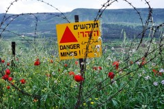 A mine field in Israel