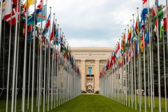 The Palace of Nations in Geneva, Switzerland